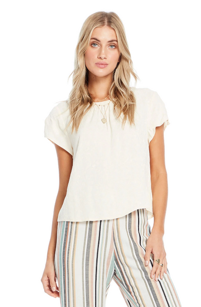 Saltwater Luxe Short Sleeve Top with Keyhole