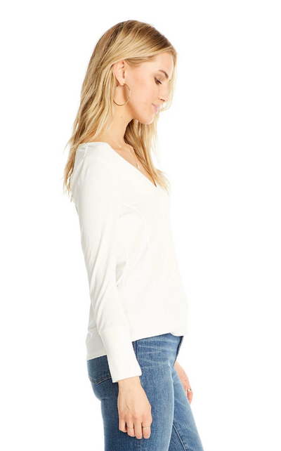 Saltwater Luxe V Neck Long Sleeve Top