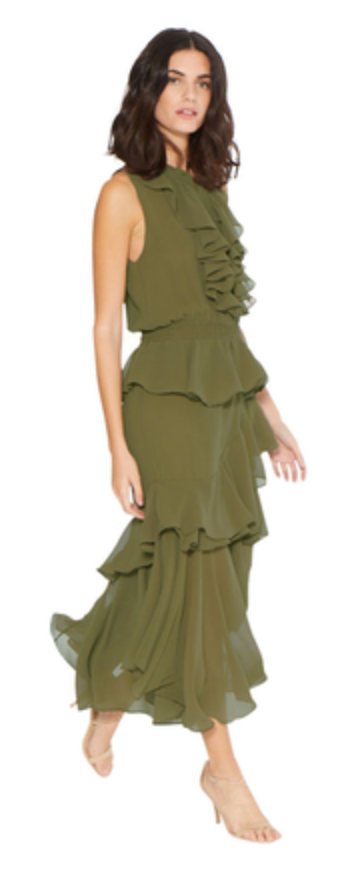 Misa Madelina Dress in Olive