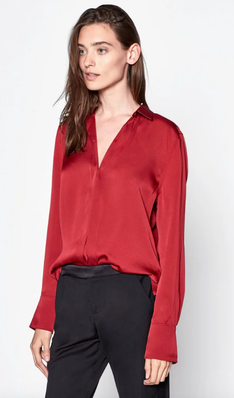 Equipment Essential Top in Rio Red