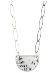 Ashley Schenkein Portland Moon Dendrite Gemstone and Pave Necklace
