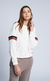 Monrow Stripe Embroidery Sweatshirt