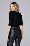 David Lerner V Neck Puff Top