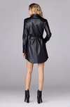 David Lerner Vegan Leather Shirt Dress