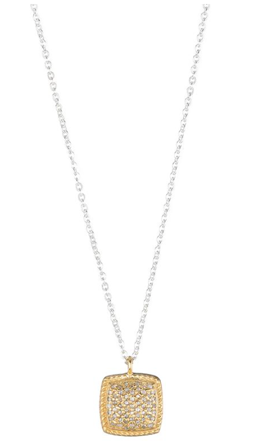 Ashley Schenkein Brooklyn Diamond Pave Cushion Necklace