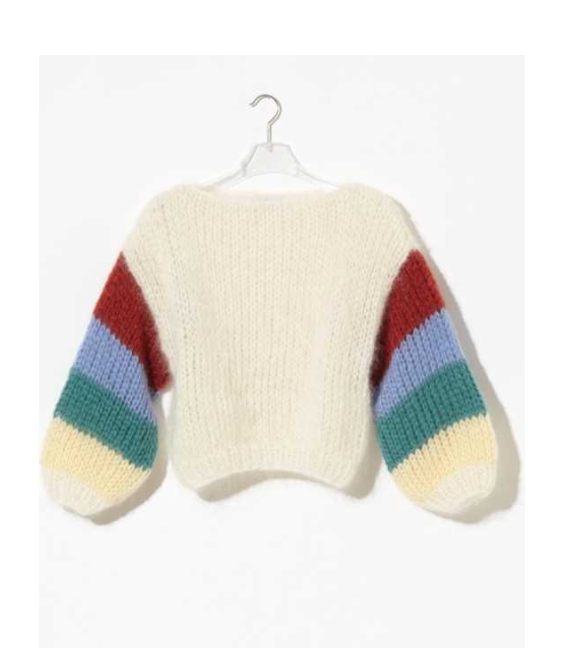 Maiami Cashmere Striped Arm Sweater