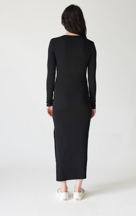 Stateside Longsleeve Rib Maxi Dress
