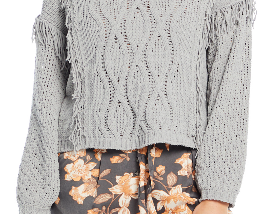 Saltwater Luxe Pullover Sweater with Fringe