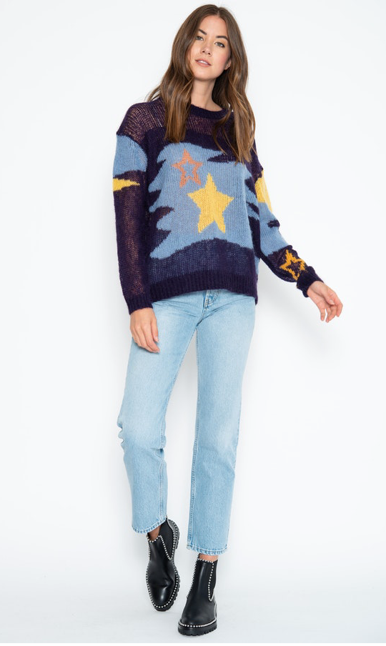 One Grey Day Galaxy Sweater