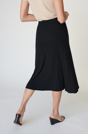 Stateside Midi Flare Ribbed Skirt
