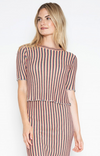 One Grey Day Izzy Top in Multi Stripe