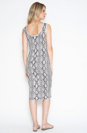 One Grey Day Lola Python Dress
