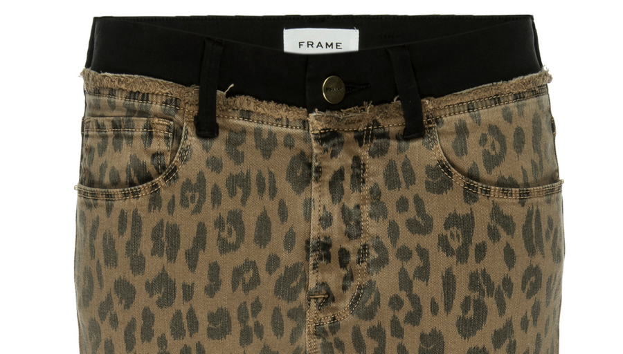 Frame Le Crop Boot in Cheetah