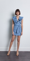 Karina Grimaldi Samuel Dress in Denim