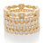 Jen Hansen Stacked Shapes Rings, Gold