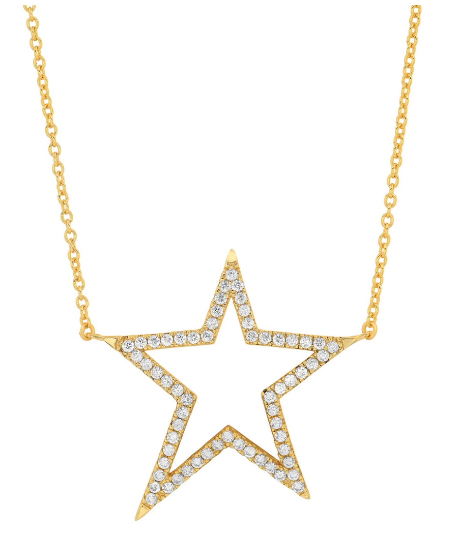 Jen Hansen Shooting Star Necklace, Gold