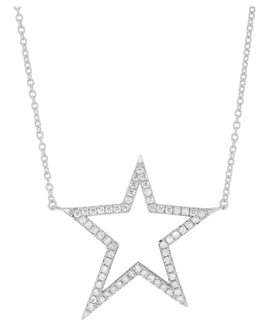 Jen Hansen Shooting Star Necklace, Silver
