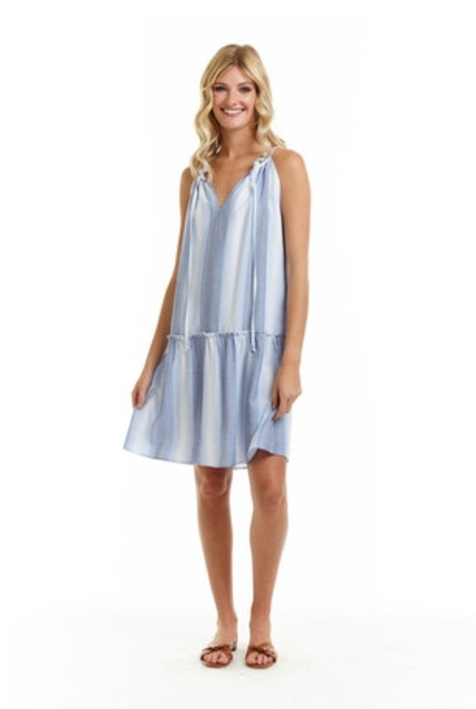 Drew Callisto Dress in Denim Stripe