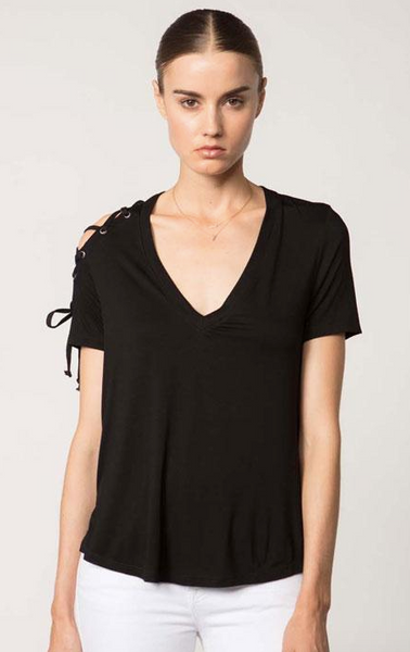 Feel the Piece Amy Top in Black