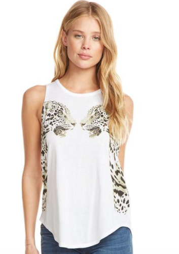 Chaser Wild Cats Tank in White