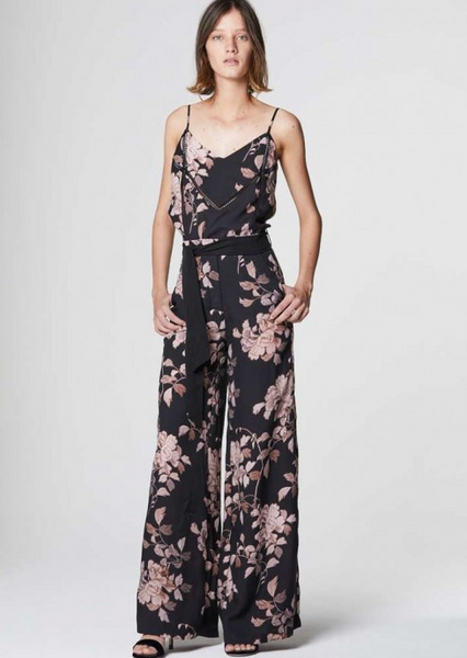Once Was Jagger Wide Leg Pant in Bohem Floral