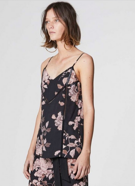 Once Was Sabina Lace Insert Cami in Bohem Floral