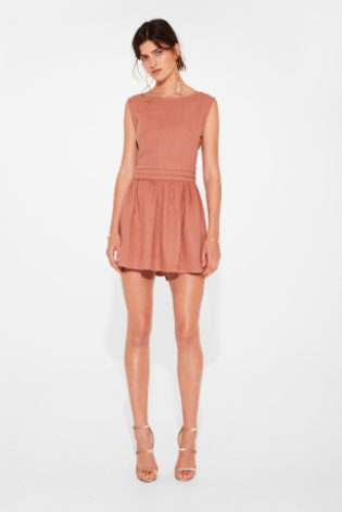 Sir the Label Lila Mini Dress in Rust