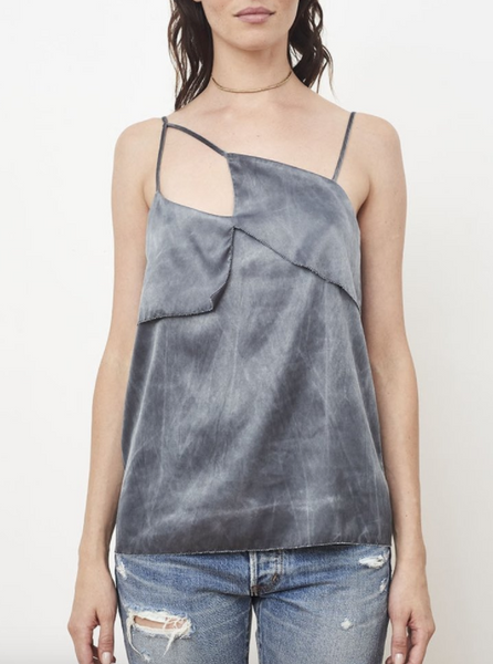 ROI Cut Out Graphic Cami in Smoke