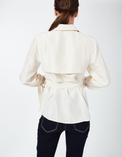 Nicole Miller Safari Wrap Top in Whipped