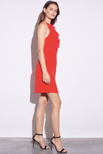 Amanda Uprichard Caryn Dress in Lipstick