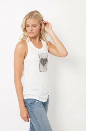 Tyler Jacobs Winnie Queen of Hearts Tank in White
