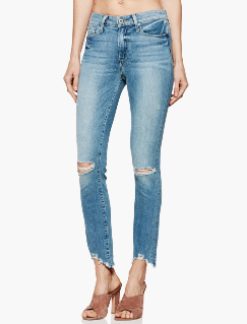 Paige Hoxton Ankle Peg Worn-in Hem in Janis