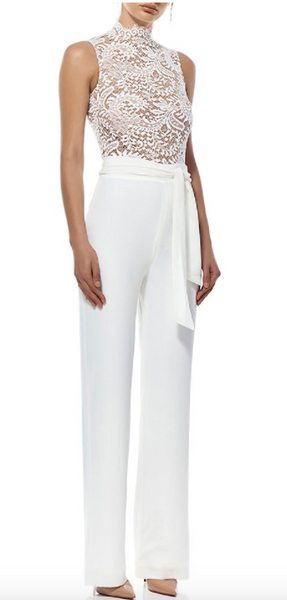 Misha Collection Josie Pantsuit in Ivory