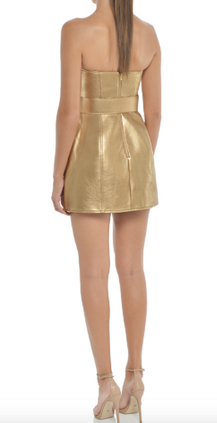 Misha Collection Jessie Dress in Gold