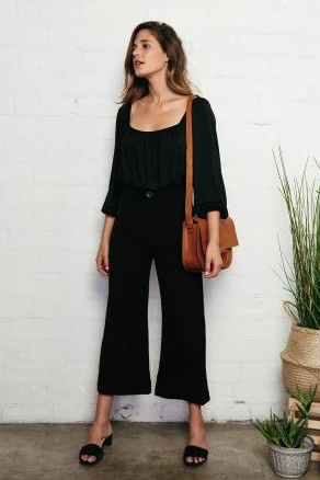 Rachel Pally Linen Julien Pant in Black