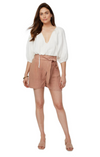 Rachel Pally Linen Wrap Shorts in Maple Sugar