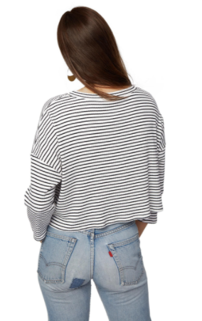 Rachel Pally Rib Tana Top in Black/White Stripe