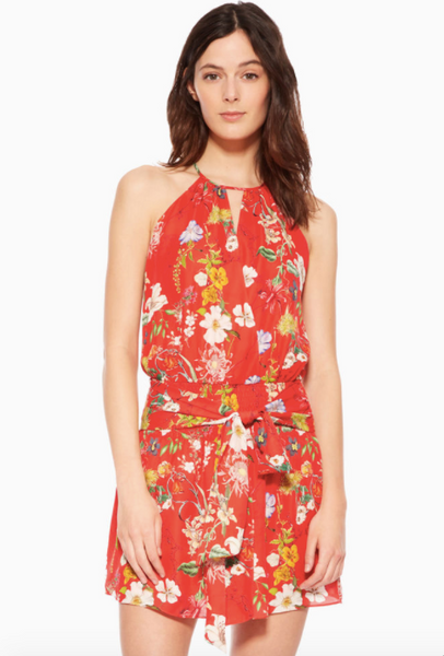 Parker Larissa Dress in Red Sangria