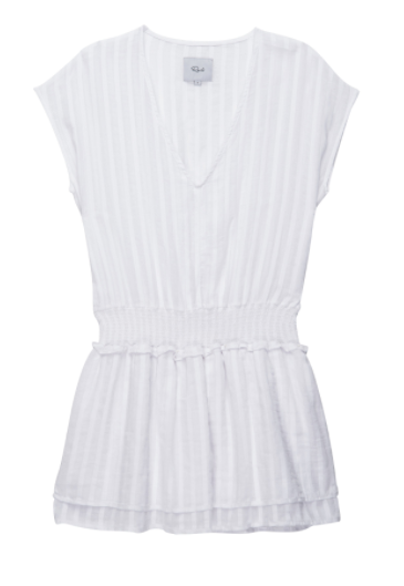 Rails Lucca Dress in White Shadow Stripe