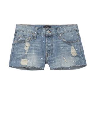 Rails Austin Denim Short in Medium Vintage Paint Splatter