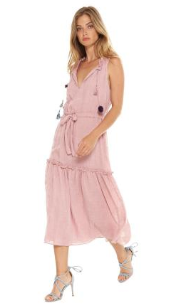Misa Nicolleta Dress in Dusty Pink