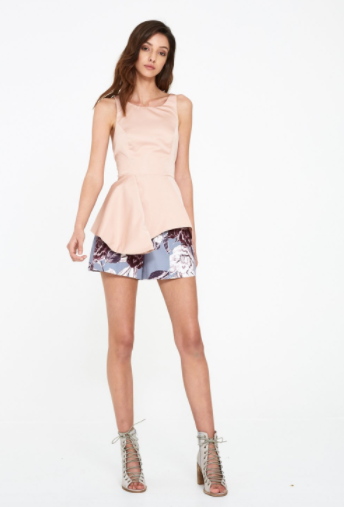 Shilla The Label Seeker Tie Bodice Top in Blush