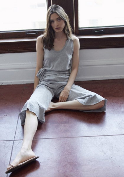 Nation Ltd Tessa Ruffle Jumpsuit in Heather Grey