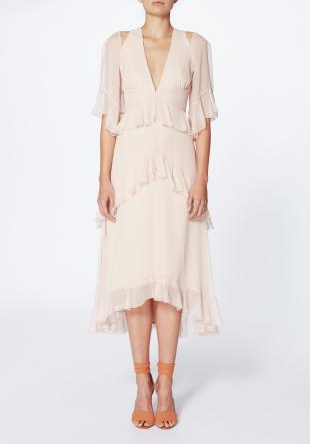 Nicole Miller Ruffle Dress in Ballet