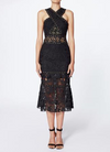 Nicole Miller Lace and Nailheads Criss Cross Dress in Black