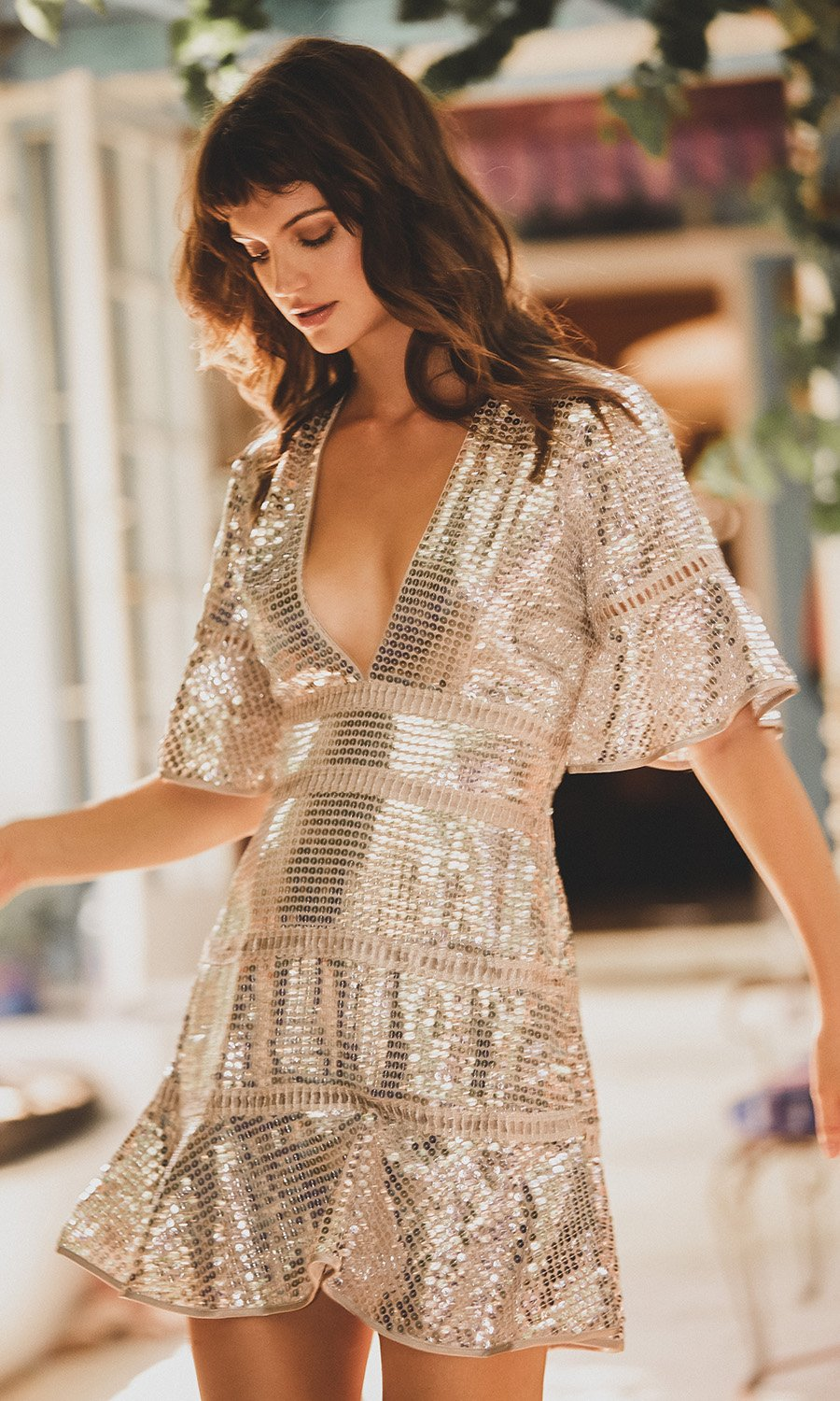 Saylor Sidney Silver Dress
