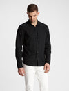 John Varvatos Snap Buttoned Shirt in Black
