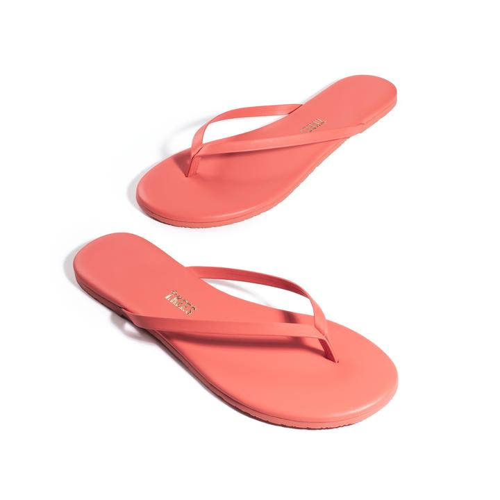 TKEES Solid Salmon Flip Flops
