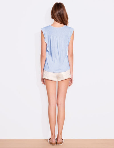 Sundry Flutter Sleeve Top