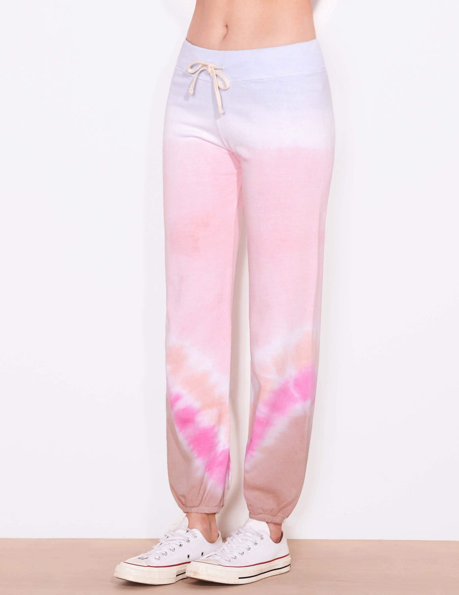 Sundry Sweatpants in Petal Tie Dye